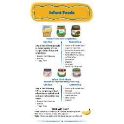arizona WIC Approved Food List - Items Page 14