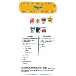 arizona WIC Approved Food List - Items Page 4