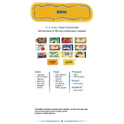 arizona WIC Approved Food List - Items Page 12
