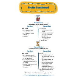 arizona WIC Approved Food List - Items Page 15