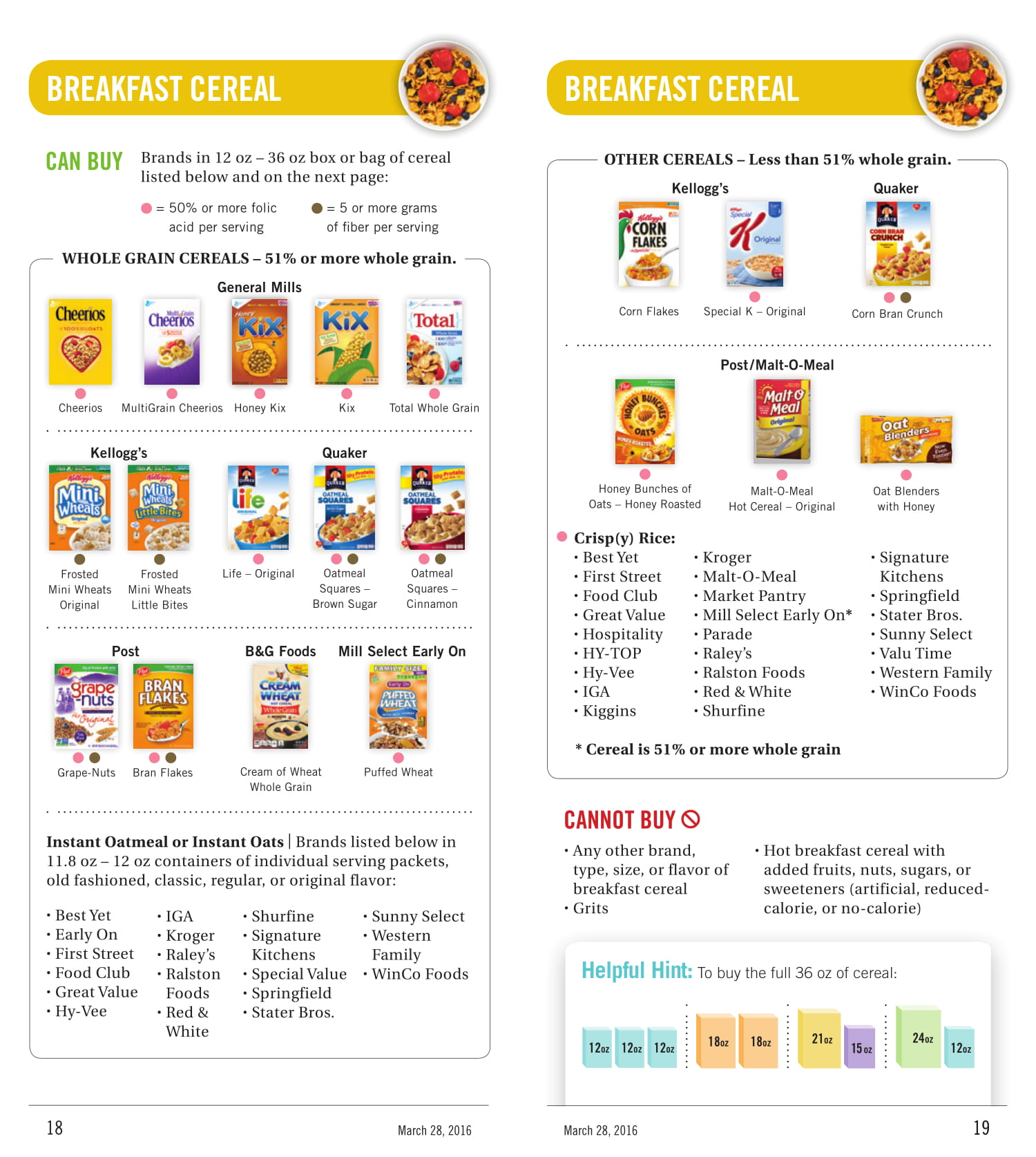 Foods You Can Buy With California WIC Benefits