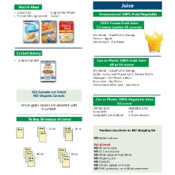 kentucky WIC Approved Food List - Items Page 7