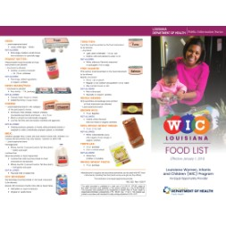 louisiana WIC Approved Food List - Items Page 2