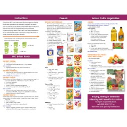 louisiana WIC Approved Food List - Items Page 1
