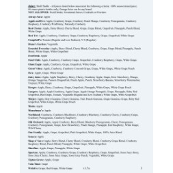 ohio WIC Approved Food List - Items Page 5