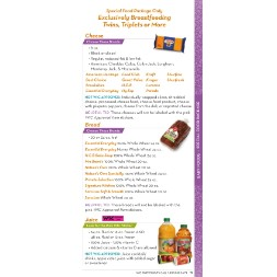 texas WIC Approved Food List - Items Page 1